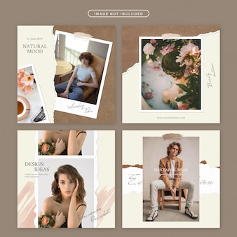 Social media post in beauty theme