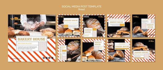 소셜 미디어 포스트 빵 사업