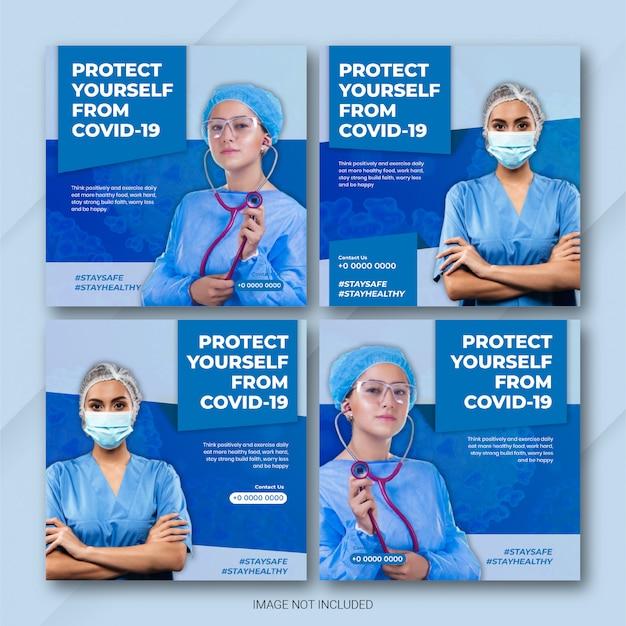 Social media post bundle coronavirus disease