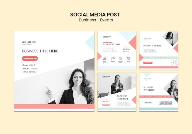 Social media post business pack