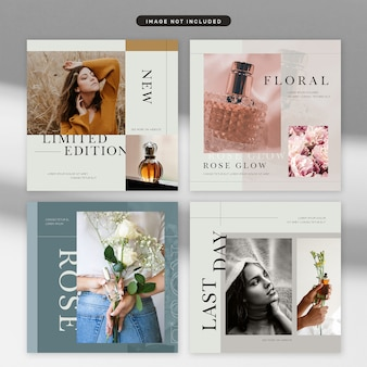 Social media post cosmetic and fashion theme