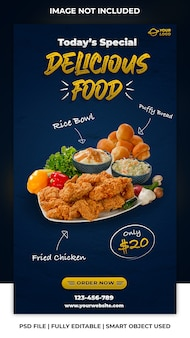 Social media post for food discount template