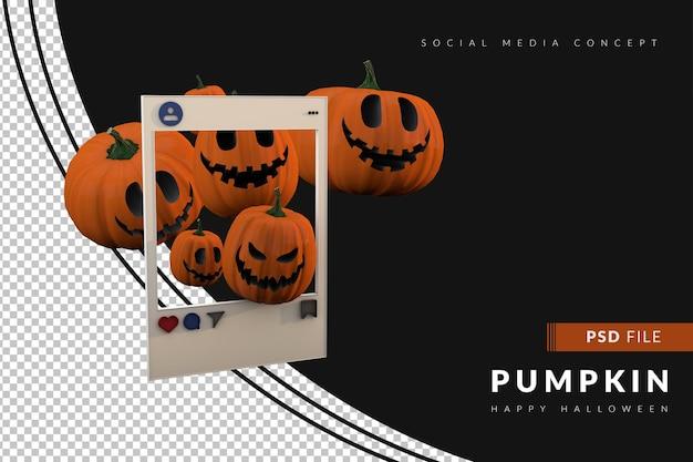 Пост в социальных сетях для хэллоуина