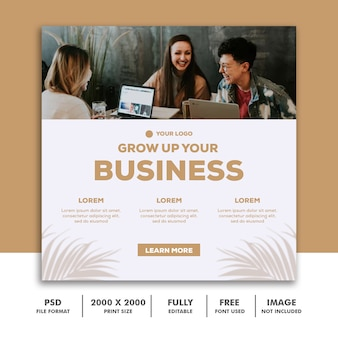Social media post instagram template, square banner business clean trendy luxury