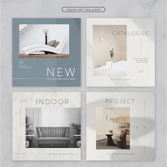 Social media post minimal furniture theme