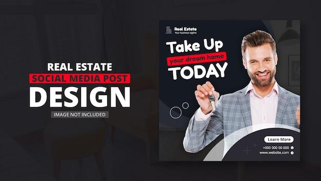 Social media post for real estate business