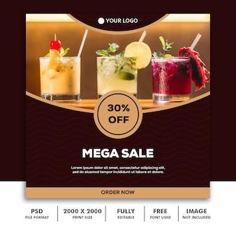 Social media post template about mega sale
