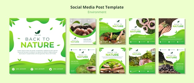 Social media post template about nature