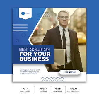 social media post template business corporate