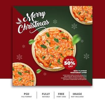 Social media post template christmas for restaurant food menu