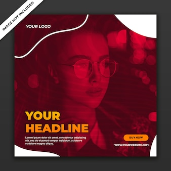 Social media post template instagram fashion collection