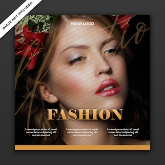 Social media post template instagram fashion sale collection