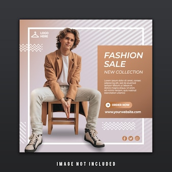 Social media post template for new fashion trend