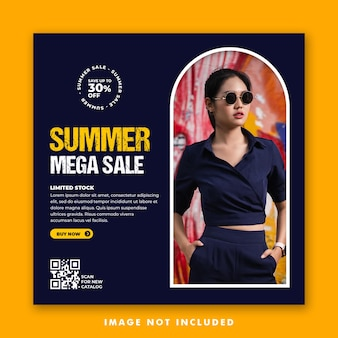 Social media post template for summer fashion