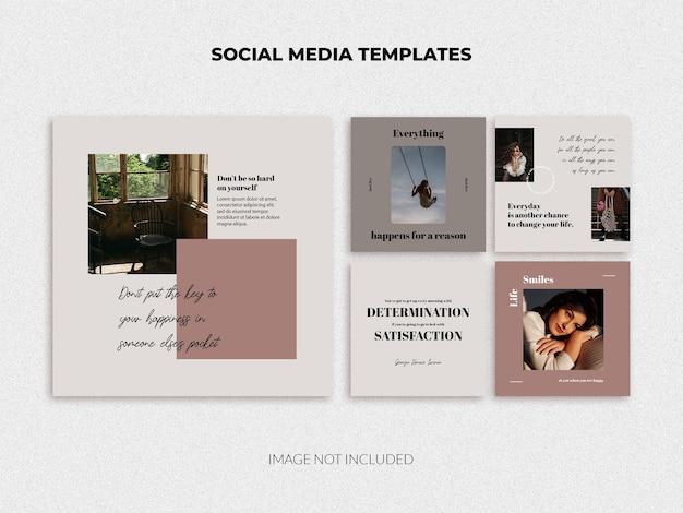 소셜 미디어 포스트 템플릿 팩