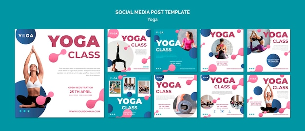 Social media post yoga class