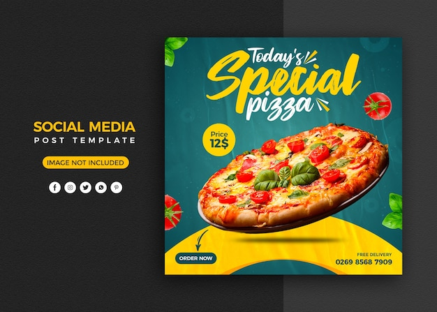 Social media promotion and instagram banner post design template