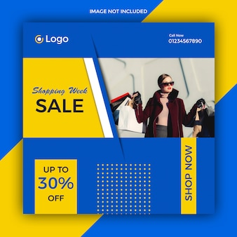 Social media sale post template