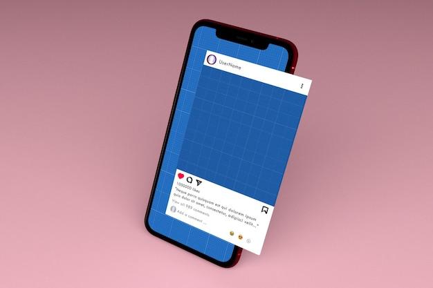 Социальные сети и макет смартфона