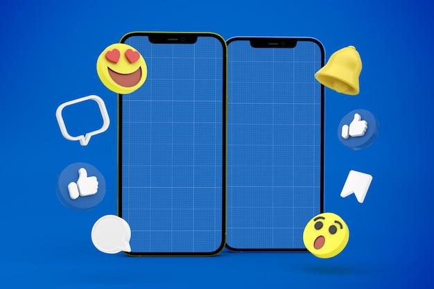 Social media smartphone mockup design