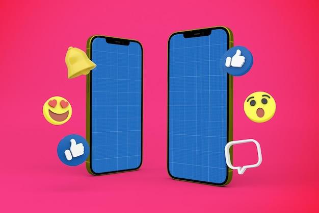 Social media smartphone mockup design Premium Psd