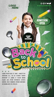 Social media storie back to school admission open