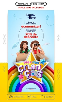 Social media stories in brazil childrens day here the game is to save
