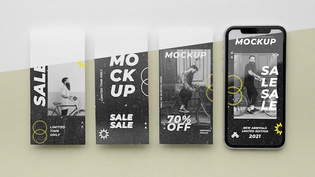 Storie sui social media e modelli di smartphone smartphone