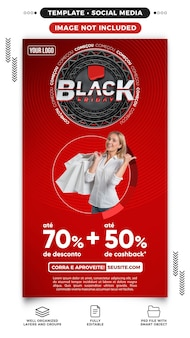 Social media stories website black friday offers up to 70 off in brazil