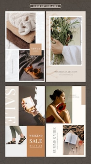 Social media story in fashion and beauty theme