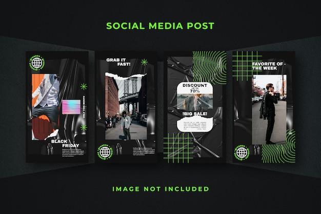 소셜 미디어 스토리 instagram 템플릿