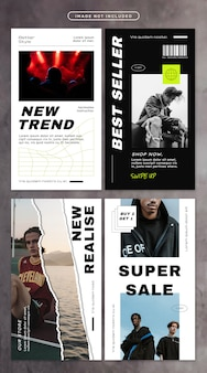 Social media story with street fashion