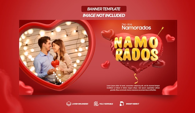 Social media template facebook valentines day campaign in brazil