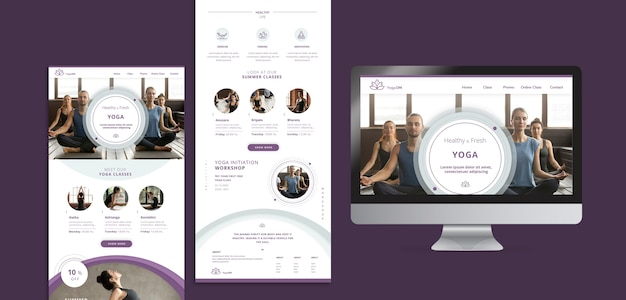 Social media templates with yoga theme