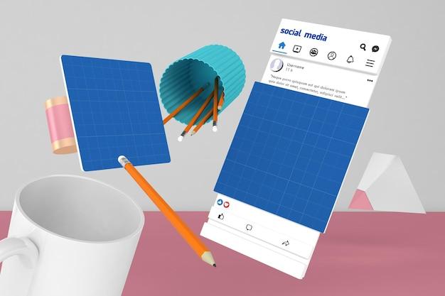Social media v2 desktop Premium Psd