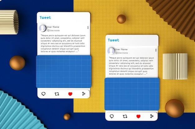 Social media v2 top view