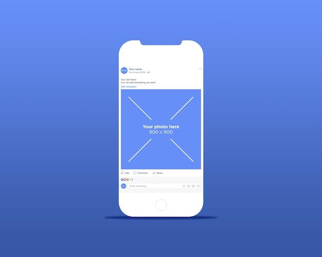 Макет страницы смартфонов в социальной сети
