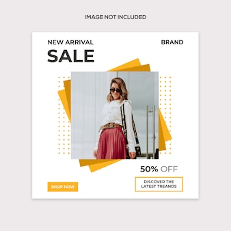Social sale modern post template