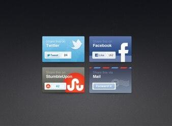 Social share blocks