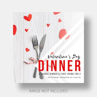 Social template restaurant valentine's day