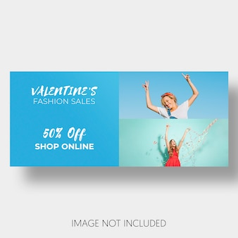 Social template sales valentine's day