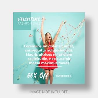 Modello sociale di vendita di san valentino
