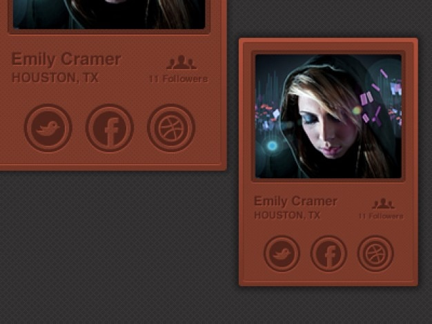 Social user profile with avatar
