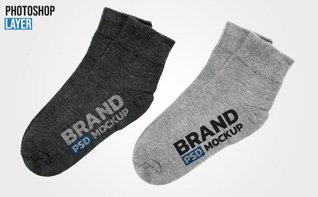 Носки макет Premium Psd