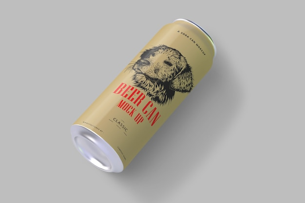 Soda or beer can mockup