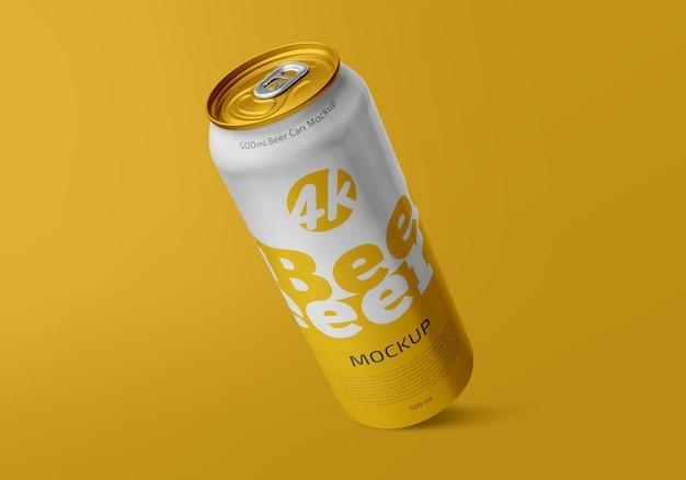 Soda or beer can mockup