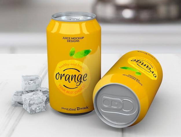 Soda può mockup