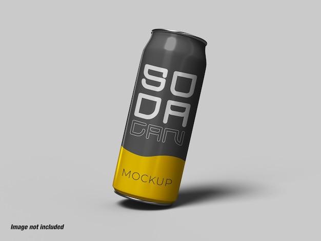 ソーダ缶またはエナジードリンクのモックアップ