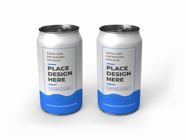 소다 캔 포장 모형