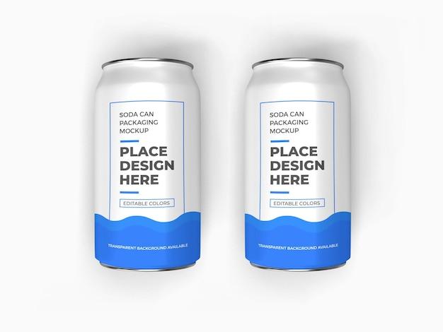 Soda can packaging mockup